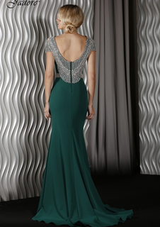 JADORE J9003 Emerald Embellished Gown