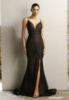 Black/Nude Fitted Gown