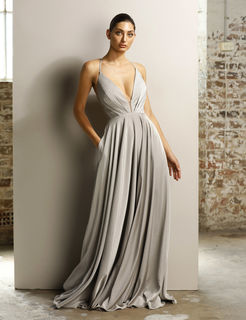Nude A Line Gown