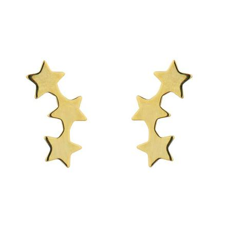 EARRINGS 3 Star Gold