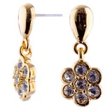 EARRINGS Daisy Drop CZ Gold