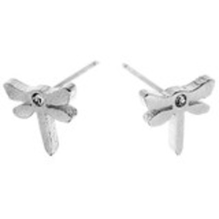 EARRINGS Dragonfly CZ Silver