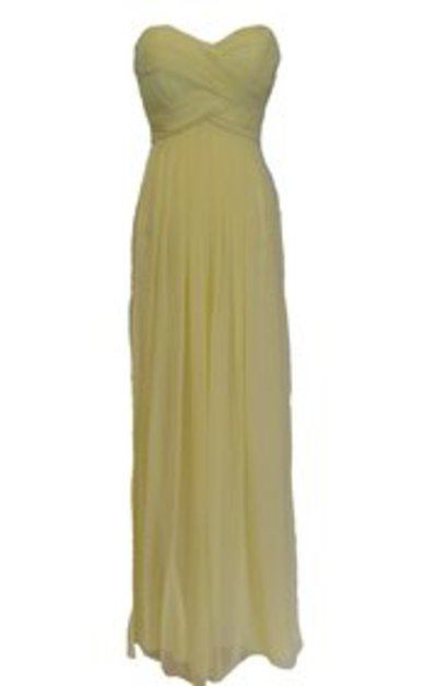 L'AMOUR 1104 Lemon Chiffon Gown