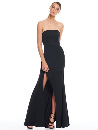 TALULAH B Bias Gown Black