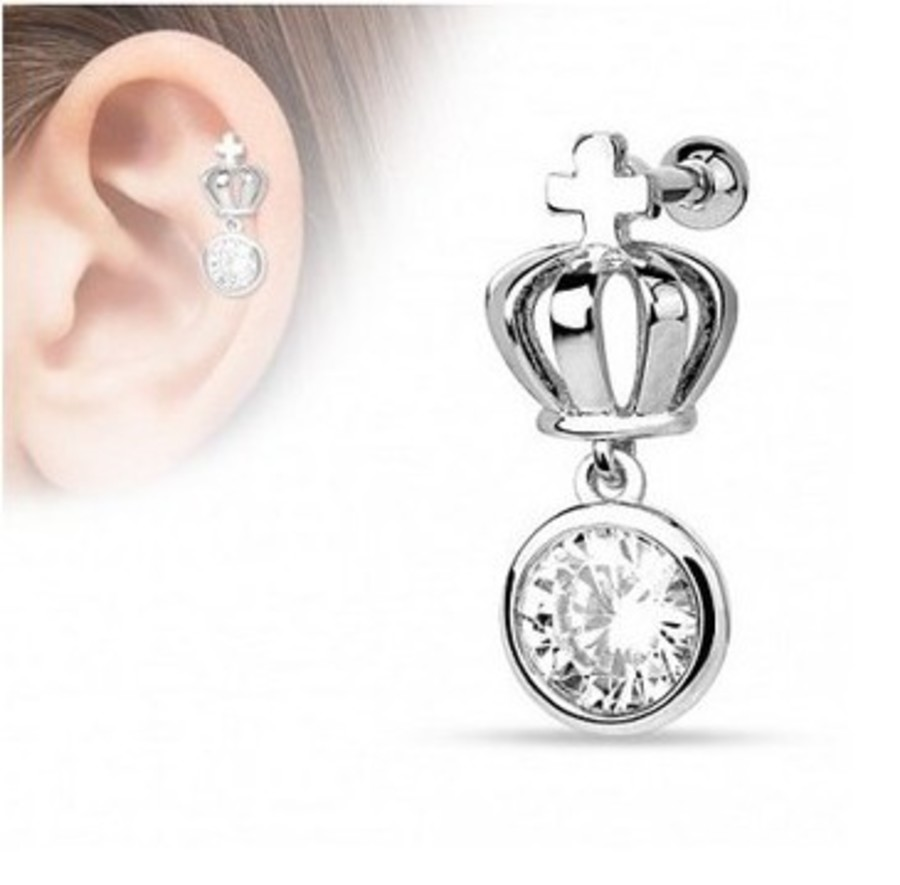 BARBELL 16g Helix Crown Stud SSS