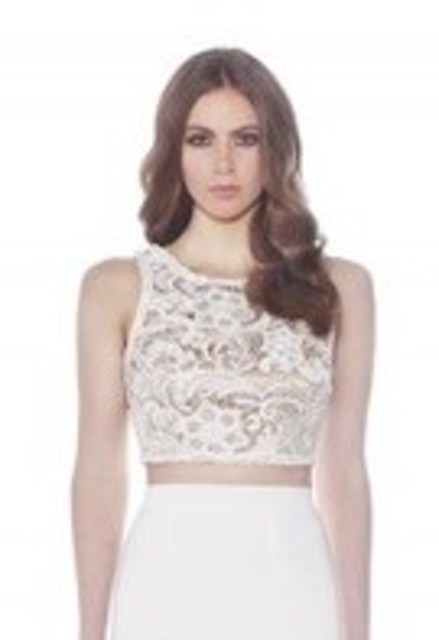 JADORE Embroidered Lace Crop Top