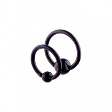 Ball Closure Ring Black SSS 16g (1.2mm) x 8mm-12mm