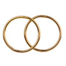 SLEEPER 24k Gold Plated 925 Hinged Ring (Pair/Single)