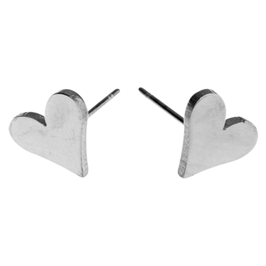 EARRINGS Heart Silver